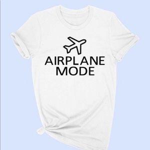 Airplane mode graphic tee NWOT
